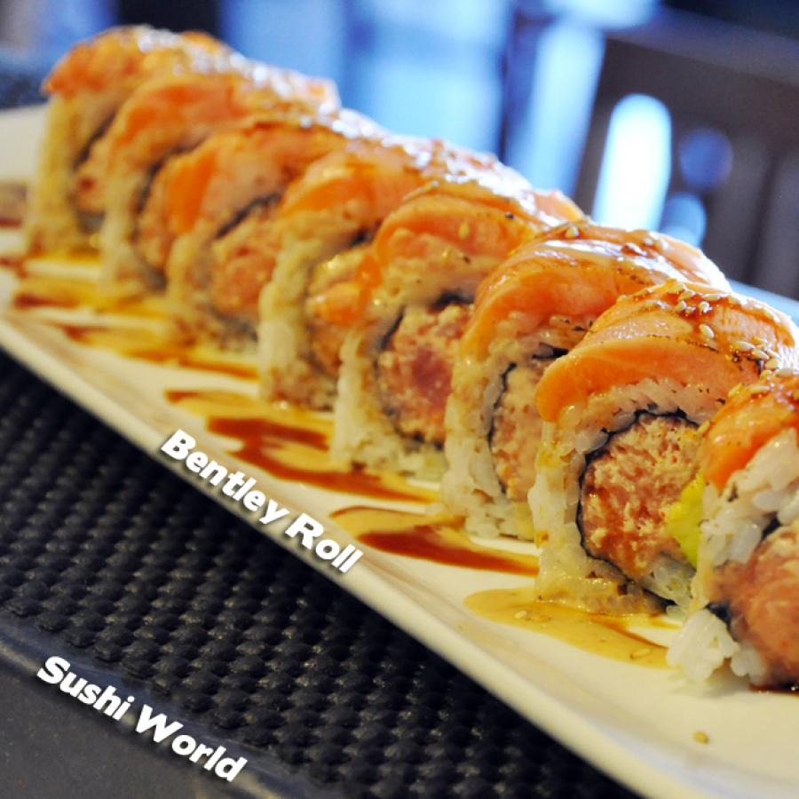 Bentley Roll Seared Salmon Spicy Tuna Sesame Dressing